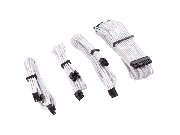 Corsair White Premium Individually Sleeved PSU Cables Starter Kit Type 4 Gen 4