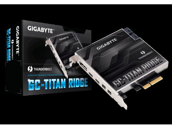 Gigabyte GC-TITAN RIDGE Thunderbolt 3 PCI-Ex4 add on Card USB Type-C DisplayPort