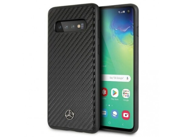 CG MOBIL Galaxy S10 Mercedes-Benz Logo DYNAMIC LINE Carbon Hard Case Black Cover