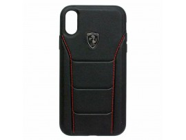 CG MOBILE IPhone XR FERRARI 488 HERITAGE Genuine Leather Hard Case Cover Black
