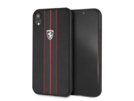 IPhone XR CG MOBILE FERRARI Black PU Leather Hard case Cover OFF TRACK LOGO