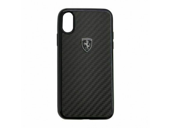 CG MOBILE IPhone XR FERRARI HERITAGE Black Real Carbon Hard Case Cover Luxury