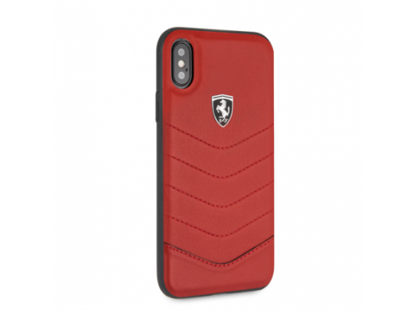 CG MOBILE IPhone X/XS FERRARI HERITAGE QUILTED Red Leather Hard Case Cover Luxur
