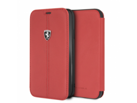 CG MOBILE IPhone XR FERRARI Leather Booktype Case Vertical Contrasted Stripe Red