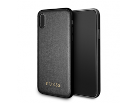 IPhone X/XS CG MOBILE GUESS IRIDESCENT PU Leather Hard Case Cover Black Luxury