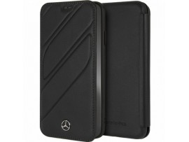 CG MOBILE IPhone XR Mercedes-Benz Genuine Leather Booktype Flip Case Cover Black