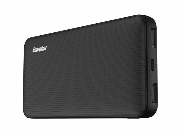 Energizer UE10034 Power Bank 10000mAh BLACK Dual Output 5V 2A Smartphone Tablet