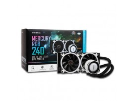 Antec Mercury 240 RGB CPU Liquid Cooler AMD AM4/AM3 Intel LGA1151/1155/2011/2066