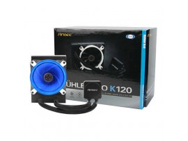 Antec K120 CPU Liquid Cooler PWM Fan Blue LED Water Pump Intel LGA1151 AMD AM4