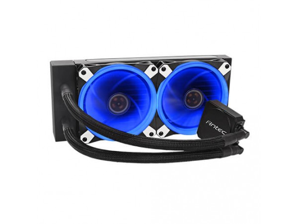 Antec K240 CPU Liquid Cooler PWM Fan Blue LED Water Pump Intel LGA1151 AMD AM4