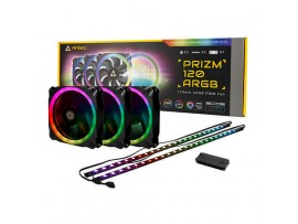 Antec Prizm 120 ARGB KIT 3x 120mm Case Fan Dual-Ring RGB 2x Led Strip Controller