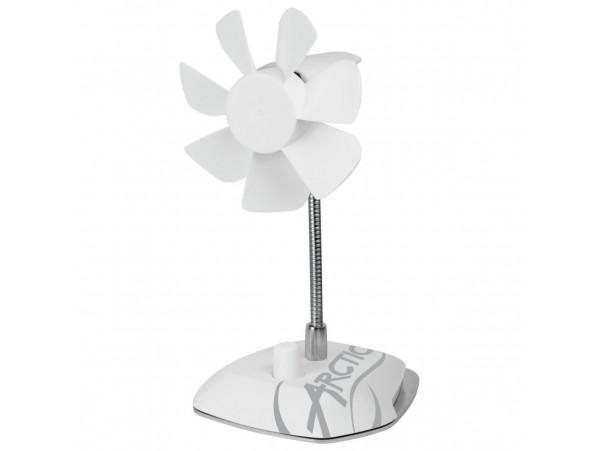 NEW Arctic Breeze White USB Table Cooling Fan Desktop Laptop ABACO-BRZWH01-BL