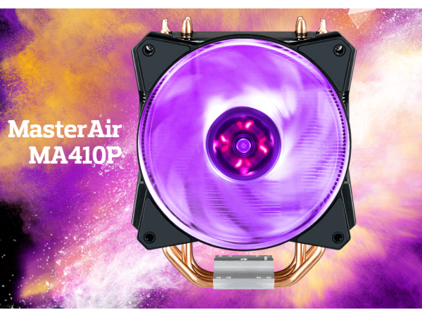 Cooler Master MASTERAIR MA410P RGB LED Heatsink CPU Cooler LGA1150/1151/2066 AM4