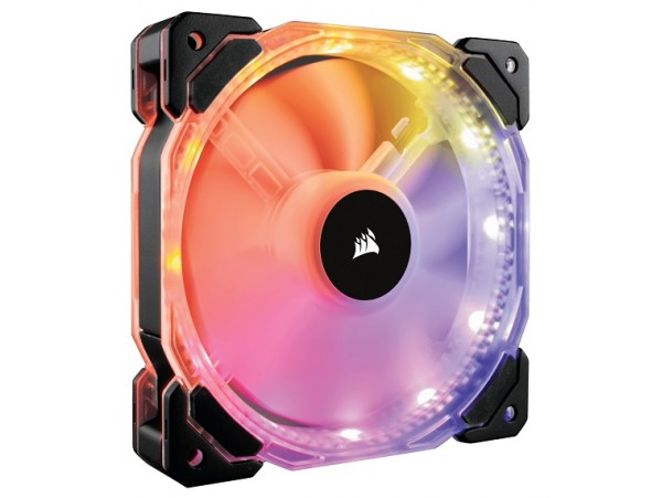 Corsair HD120 Fan RGB LED High Performance 120mm 4-pin PWM with Controller Hub