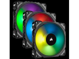 3 Fan Pack Corsair ML120 PRO RGB LED 120MM PWM Magnetic Levitation Lighting Node