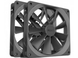 TWIN PACK NZXT AER F140 140MM 4-pin PWM CASE FAN Gray High-performance Airflow