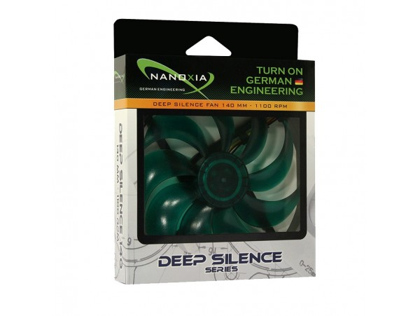Nanoxia Deep Silence 140mm Ultra quite Case Cooling PC Fan DS140 1100 RPM 3-PIN