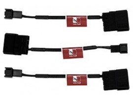 NEW Noctua NA-SAC1 3-PIN To Molex 4-pin connector Adapter Cable Fan 3-pcs Set