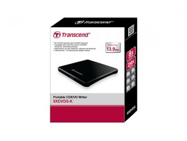 TRANSCEND TS8XDVDS-K External Disc Drive Slim Portable CD/DVD Writer USB powered