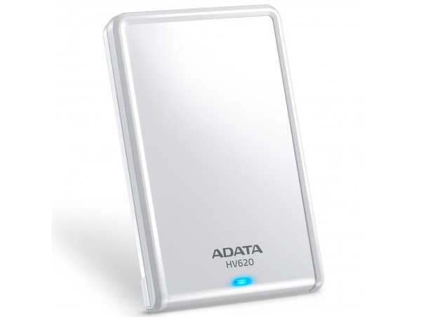 "ADATA HV620S WHITE 2TB 2.5"" HDD 5400RPM Slim & Light External Hard Drive USB 3.1"