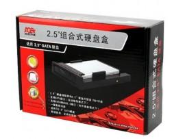 AGESTAR SCM2A Aluminium HDD 2.5'' SATA USB 2.0 Mobile Rack External Hard Disk