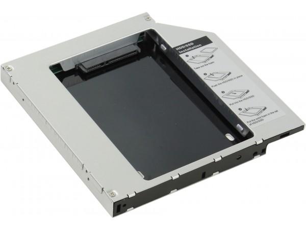 "Agestar SSMR2S SATA 2.5"" HDD SSD Caddy Tray Laptop Notebook CD/DVD Bay Adapter"