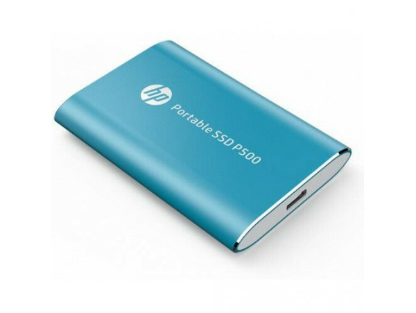 HP P500 250GB Portable SSD Blue Solid State Drive NAND TLC USB 3.0 TypeC 7PD50AA