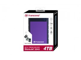 Transcend StoreJet 4TB USB 3.0 Resistance External HDD Hard Drive TS4TSJ25H3P