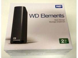 NEW Western Digital WD Elements 2TB USB 3 External Desktop Storage WDBWLG0020HBK