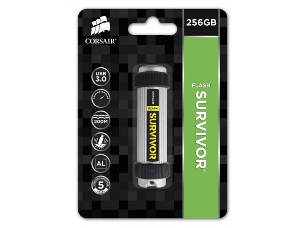 Corsair 256GB Survivor Water Proof USB3.0 Flash Drive Memory Stick CMFSV3B-256GB