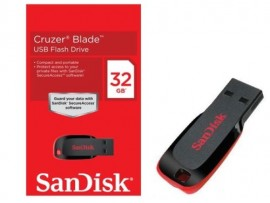 NEW SanDisk Cruzer Blade 32GB USB 2.0 Flash Drive Memory Stick SDCZ50-032G-B3