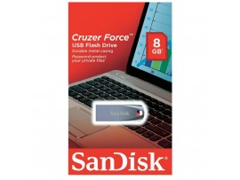 NEW Sandisk 8GB Cruzer Force USB Flash Memory Drive Metal Casing SDCZ71-008G-B3