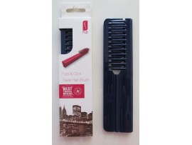 FLO Pocket Travel Blue Hair Brush Comb FOLD & CLICK Hairdressing Styling Salon Beauty