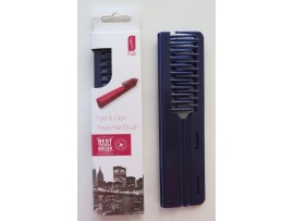 FLO Pocket Travel Dark Purple Hair Brush Comb FOLD & CLICK Hairdressing Styling Salon Beauty