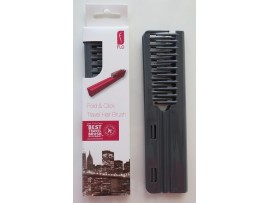 FLO Pocket Travel Grey Hair Brush Comb FOLD & CLICK Hairdressing Styling Salon Beauty