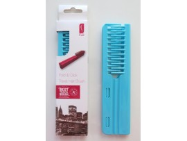 FLO Pocket Travel Turquoise Hair Brush Comb FOLD & CLICK Hairdressing Styling Salon Beauty
