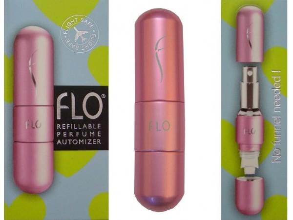 Brand NEW Flo Refillable Fragrance Atomiser Travel Perfume Bottle PINK 6ml 0.2oz