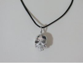 Fashion Men Jewelry Skull Perfume Fil Pendant Necklace Chain Fragrance SILVER