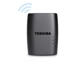 TOSHIBA STOR.E WIRELESS WiFi ADAPTER HARD DRIVE HDD HDWW100EKWF1 STREAM SHARE