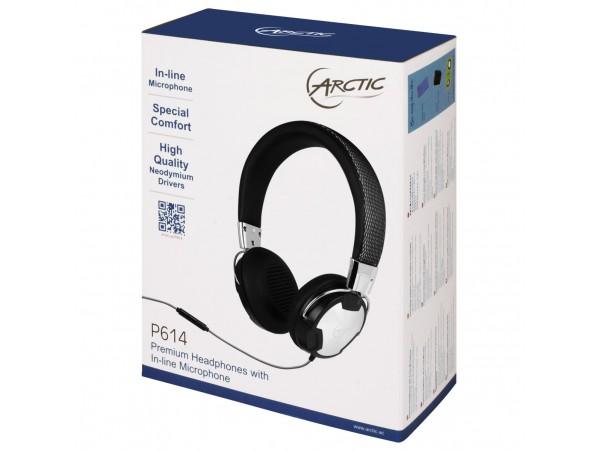 NEW Arctic P614 On-Ear Studio Headphones Microphone Music Player MP3 Smartphone