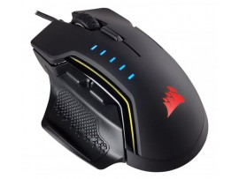 NEW Corsair GLAIVE RGB Gaming Mouse Black Optical USB Wired 16000DPI PERFORMANCE