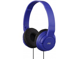 JVC HA-S180 Blue Colorful On-Ear Headphones Headset Powerful Bass iPhone iPod Android