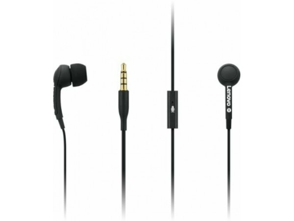 Lenovo 100 In-Ear Headphones Black in-line Microphone 3.5mm jack Laptop Tablet