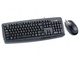 Genius KM-130 Combo Kit Optical Mouse Desktop Keyboard English Hebrew USB Wired