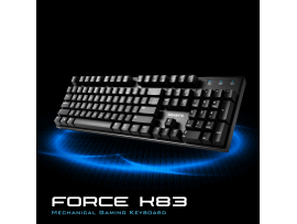 Gigabyte FORCE K83 Mechanical Gaming Keyboard Cherry MX English Hebrew USB Wired
