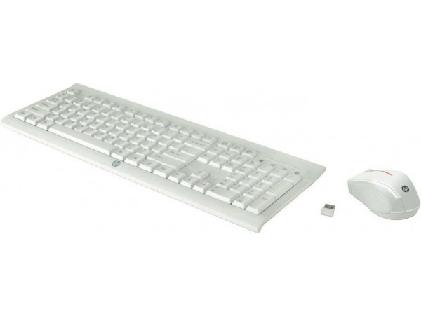 HP C2710 Combo Keyboard Mouse White English Hebrew M7P30AA USB wireless receiver