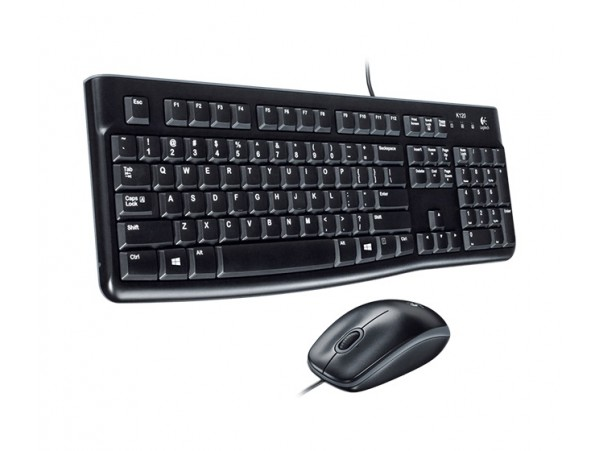 Logitech MK120 Keyboard Mouse Set USB WIRED English Hebrew Keypad PC Computer