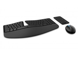 NEW Microsoft Sculpt Ergonomic Wireless Keyboard Mouse English Hebrew L5V-00014
