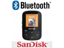 SanDisk Clip Sport Plus 16GB BLACK Wireless Bluetooth MP3 Player FM RADIO Music