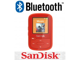 SanDisk Clip Sport Plus 16GB RED Wireless Bluetooth MP3 Player FM RADIO Music